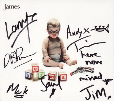 Signed James album