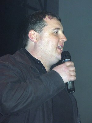 Peter Kay introduces James live at Liverpool Academy April 08